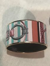 Hermes Enamel Bracelet Extra Wide New