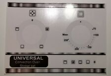 Generic oven fascia stickers for conventional oven, compatible Lamona etc.