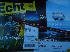 Programm Ticket Menu Parking UEFA CL 2016/17 Borussia Dortmund - Sporting CP (2)
