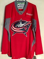 Reebok Practice  NHL Jersey Columbus Blue Jackets Team Red sz L