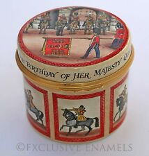 Halcyon Days Enamels Trooping The Colour QE11 60th Birthday LE Enamel Box