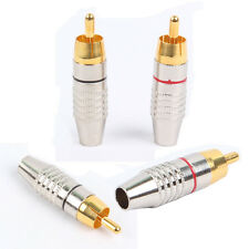 100pcs (50 pair ) RCA Male Plug Solder Free Gold Audio Video Adapter Connector