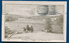 The Bridge at River Styx Lake Hopatcong New Jersey nj 1930s old postcard