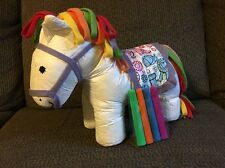 Color & Cuddle Washable Pony By Alex Toys Horse Rainbow