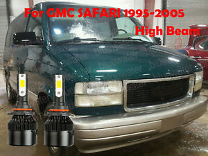 LED For GMC SAFARI 1995-2005 Headlight Kit 9005 HB3 White CREE Bulbs HIGH Beam