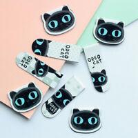 Schöne schwarze Katze magnetische Lesezeichen Büroklammer Lesezeichen SchoolOff