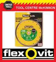 "FLEXOVIT 9"" / 230mm TURBO RIM DIAMOND WHEEL / BLADE FOR BRICK & CONCRETE ETC"