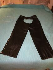 Black Leather Chaps Men's XXL
