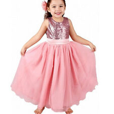 Kid Girl Princess Lace Tulle Tutu Dress Wedding Formal Party Pageant Bridesmaid
