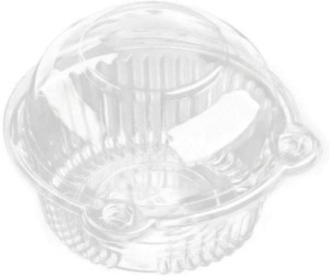 Cupcake Holders Individual PC Cupcake Containers Plastic Disposable Clear