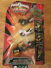Power Rangers jungle fury Micro animal zords megazords  - New in blister package