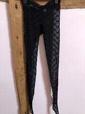 Vintage yves saint laurent Black Lace Tights Size 1 VGC