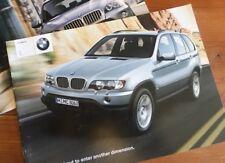 BMW X5 brochure E53, printed Oct 2001