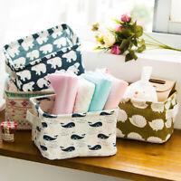 Foldable 5 Colors Storage Bin Closet Home Box Container Organizer Fabric Basket
