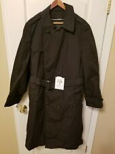 DSCP Garrison Collection Military All Weather Men's Trench Coat 42L Black NWT