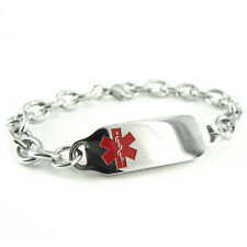 MyIDDr - Pre Engraved - DIABETIC Medical Bracelet, with Wallet Card