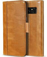 Samsung Galaxy Note 8 Luxury Genuine Leather Wallet Case Slim Flip Stand Cover