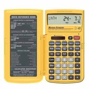 Calculated Material Estimator Calculator 4019