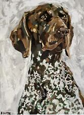 More details for german shorthaired pointer gsp dog  art limited edition print
