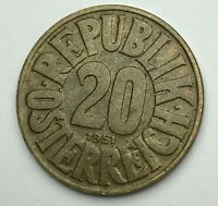 Dated : 1951 - Austria - 20 Groschen - 20 G Coin - Austrian Coin