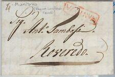 LOMBARDO VENETO - PRECURSORI busta prefilatelica da MANTOVA 1817  Volmeier # 9