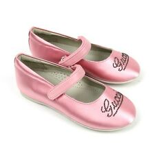 """New Authentic Gucci Kids """"Daisy"""" Ballet Flat w/Strass, 26/US 10, Pink 271301"""