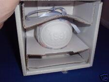 Nos 1991 Lladro Annual Matte Porcelain Christmas Ball Ornament Decoration M5829