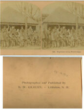 STEREOVIEW ESQUIMAUX AT WORLDS FAIR 1893