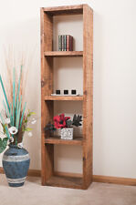 SOLID  RUSTIC SAWN PLANK | QUAD DISPLAY CUBE | BOOKCASE | HANDMADE