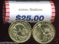 ~H/T~ 2007 P MINT JAMES MADISON $25 GOLD DOLLAR ROLL ~CHEAP~ ~FREE SHIPPING~