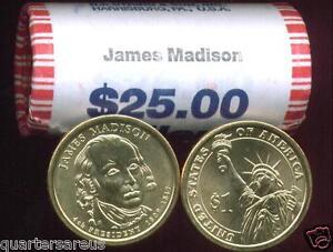~Head//Tail~ 2010 D MINT BU MILLARD FILLMORE GOLD $25 DOLLAR ROLL ~CHEAP~