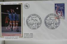 ENVELOPPE PREMIER JOUR SOIE 1986 VOLLEY-BALL FRANCE