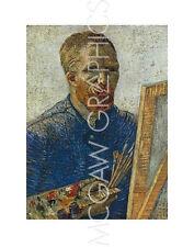 "vAN GOGH VINCENT- SELF PORTRAIT IN FRONT OF EASEL-ART PRINT POSTER 14"" X 11""(431"