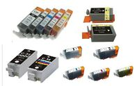 10 COMPATIBLE INK CARTRIDGES FOR CANON PIXMA, MULTIPASS.