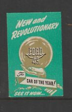 US Poster Stamp Cars Ford 49