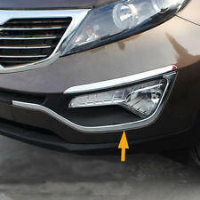 2PCS Chrome Front Fog Light Lamp Bottom Eyelid Trim For Kia Sportage 2011-2015