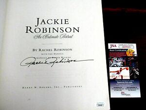 RACHEL ROBINSON JACKIE ROBINSON'S WIFE DODGER HOF SIGNED AUTO PORTRAIT BOOK JSA