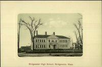 Bridgewater MA High School c1910 Postcard