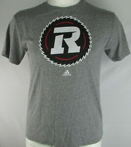 Ottawa Redblacks CFL Adidas Men's Gray Short Sleeve T-Shirt