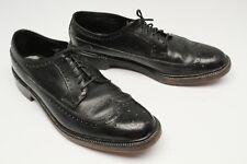 Hanover Chaussures Homme 11.5 B Cuir Noir V Cale Bout D'Aile Pebble Grain Aile