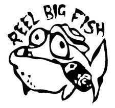 x2 Shaped Vinyl Stickers 10x10cm ska punk reel big fish car iPad laptop retro