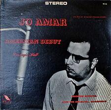JO AMAR: American Debut, Carnegie Hall-NM1965LP Fran Label MOROCCAN SEPHARDIC