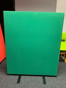 Office Screen Divider Partition 1000mm W x 1200mm H Green Nyloop