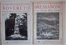 BRESSANONE ROVERETO lotto 2 cento città d'Italia illustrate Trentino Alto Adige