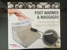 Brand New Serenity Beauty Double Foot Warmer and Massager in cream RRP £99.99