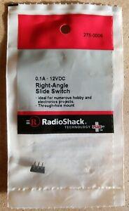 NEW! RadioShack DPDT 12VDC Right-Angle Slide Switch 2750006 *FREE SHIPPING*
