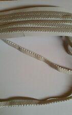 Gummiband, Rüschengummi,Gummilitze ,Wäschegummi in taupe beige 3mx8mm (0,83€/)