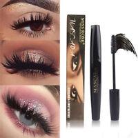 UK 4D Silk Fiber Eyelash Mascara Extension Makeup Waterproof Kit Eye Lashes Hot