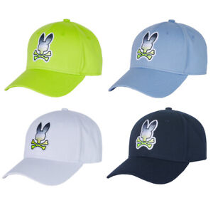 Psycho Bunny Men's Clifton Ombre Cotton Baseball Cap Embroidered Strap Back Hat