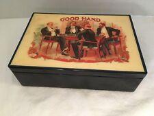 1980's Enesco Playing Card Set in enamel box